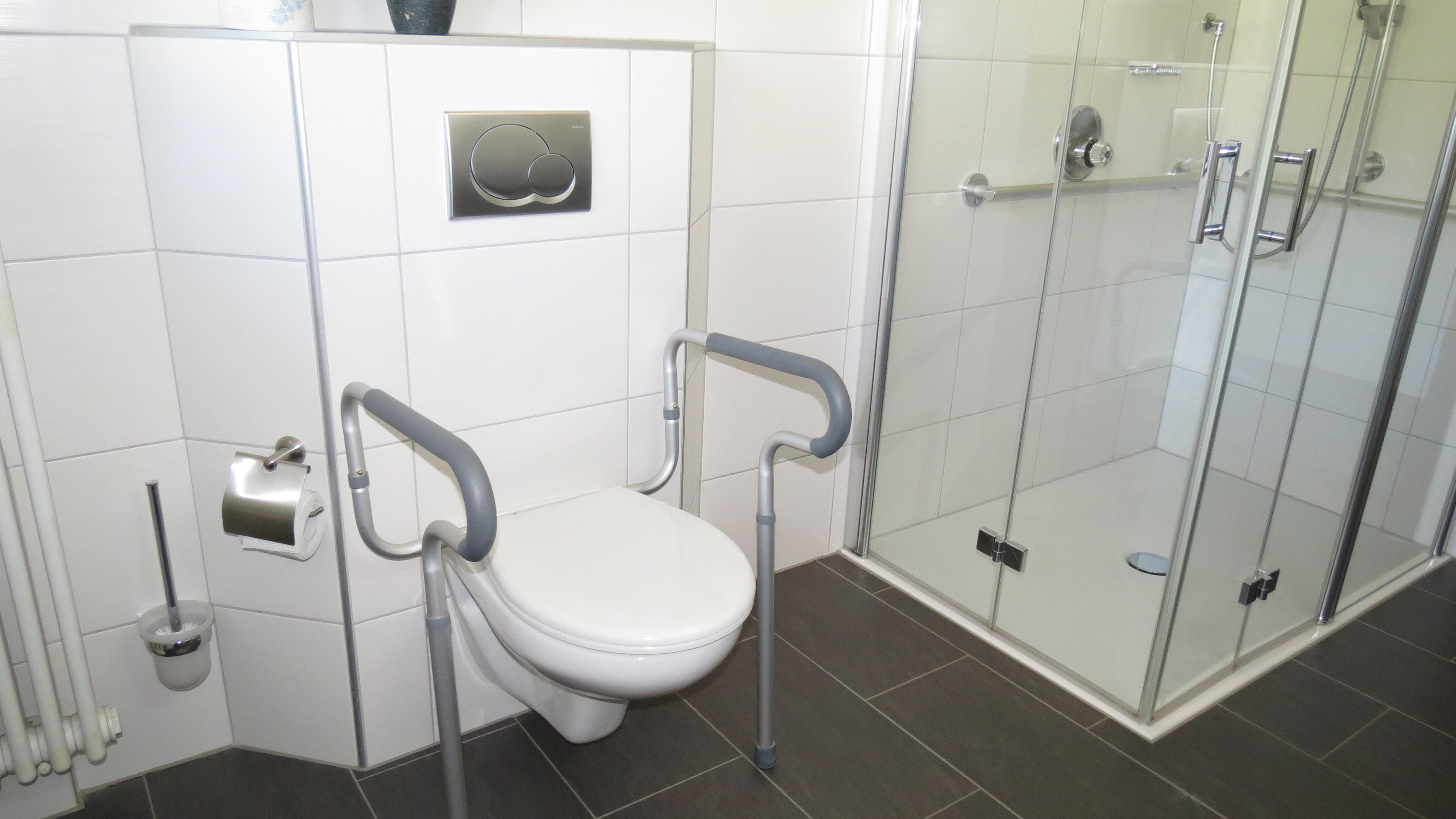 Stützgriffe an der Toilette
